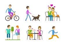Gente, plantilla popular del diseño del logotipo del vector manía Fotografía de archivo