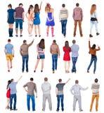 Gente posteriore di vista della raccolta Immagine Stock