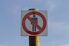 Gente prohibida Foto de archivo libre de regalías