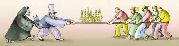 Gente que ase de la tierra figting para la vida libre illustration