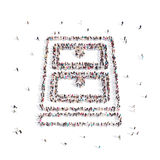 Gente que camina en carpeta libre illustration