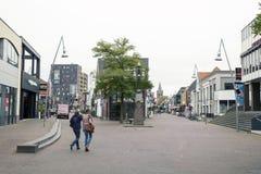 Gente que camina en el centro de Ede Foto de archivo libre de regalías