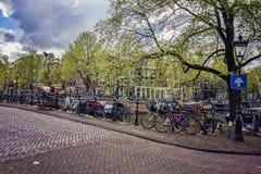 Gente que camina las calles de Amsterdam Fotografía de archivo