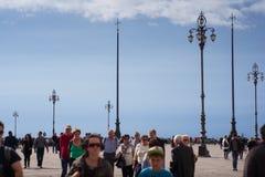Gente que camina, Trieste Imágenes de archivo libres de regalías