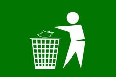 Gente que descarga basura en el fondo blanco Imagen de archivo libre de regalías