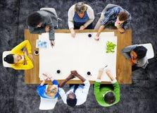 Gente que hace frente al lugar de trabajo del trabajo Team Concept Imágenes de archivo libres de regalías