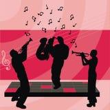 Gente que juega música stock de ilustración