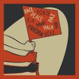 Gente que lucha para la paz libre illustration