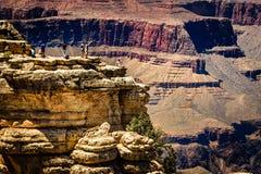 Gente que mira Grand Canyon Imagen de archivo