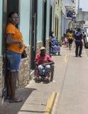 Gente que pide dinero en la calle en Cabo Verde Fotos de archivo