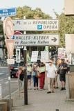 Gente que protesta contra la contaminación atmosférica Imagen de archivo libre de regalías