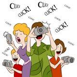 Gente que toma cuadros Imagen de archivo