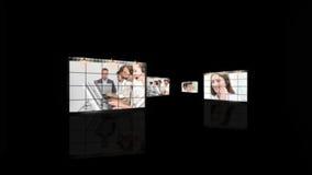 Gente que trabaja en un centro de llamada metrajes