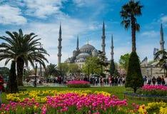 Gente que visita las vistas 26 de abril de 2015 en Estambul, Turquía Imágenes de archivo libres de regalías