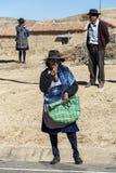 Gente quechua indigena indigena non identificata al mercato locale di Tarabuco domenica, Bolivia Immagine Stock Libera da Diritti