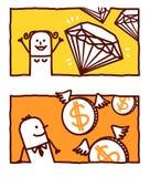 Gente rica libre illustration