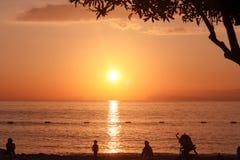 Gente rilassata del ` sulla spiaggia Fotografia Stock Libera da Diritti