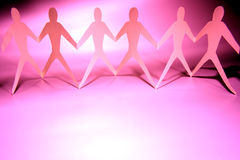 Gente rosada Imagen de archivo libre de regalías