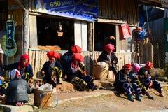 Gente rossa di Dzao PA del Sa vietnam Fotografia Stock Libera da Diritti