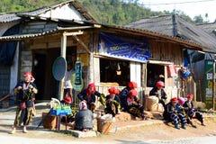 Gente rossa di Dzao PA del Sa vietnam Immagine Stock Libera da Diritti