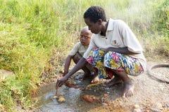 Gente ruandese Immagini Stock