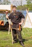 Gente, salesstands e impresiones generales del festival medieval de la edad en el lago Murner en Wackersdorf, Baviera 10 de mayo  Fotografía de archivo libre de regalías