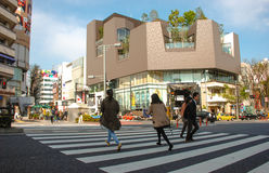 Gente Shibuya que cruza Tokio Japón Imagen de archivo libre de regalías