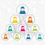 Gente social del establecimiento de una red Fotos de archivo libres de regalías