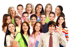 Gente sorridente felice Fotografie Stock