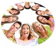 Gente sorridente felice immagini stock