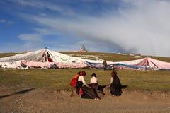 Gente tibetana Fotografia Stock