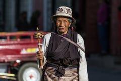 Gente tibetana Fotografia Stock Libera da Diritti