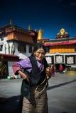 Gente tibetana Immagini Stock Libere da Diritti