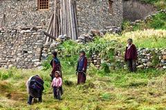 Gente tibetana en Dolpo, Nepal Foto de archivo