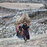 Gente tibetana nel Nepal Fotografie Stock Libere da Diritti