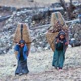 Gente tibetana nel Nepal Fotografia Stock
