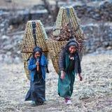 Gente tibetana nel Nepal Fotografie Stock