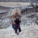 Gente tibetana nel Nepal Fotografia Stock Libera da Diritti