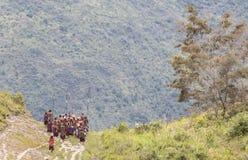 Gente tribale di Dani nel villaggio di Ugem Fotografie Stock Libere da Diritti