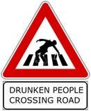 Gente ubriaca Fotografia Stock Libera da Diritti