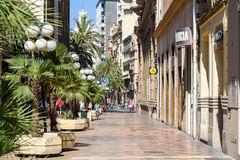 Gente Valencia City In Spain céntrico que camina Foto de archivo