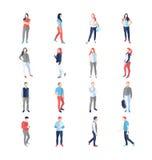 Gente, varón, hembra, en diversas actitudes comunes casuales libre illustration