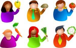 Gente vegetal ilustración del vector