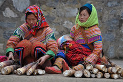 Gente vietnamita in vestiti tradizionali, Vietnam immagine stock libera da diritti