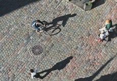 Gente vista desde arriba imagen de archivo libre de regalías