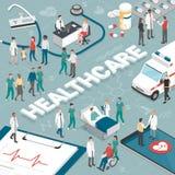 Gente y atención sanitaria libre illustration