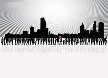 Gente y ciudad de asuntos Imagen de archivo libre de regalías