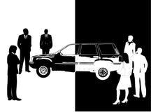 Gente y coche Fotos de archivo libres de regalías