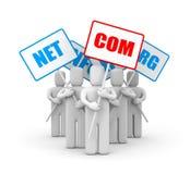 Gente y Domain Name ilustración del vector