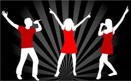Gente y el jugar del baile libre illustration